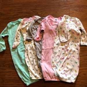 Awesome Set of 5 NB-0/3 mos Gowns